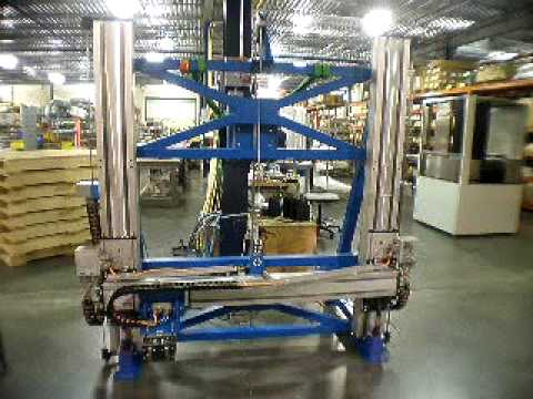 Vertical XY gantry with linear motors