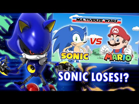 Metal Sonic Reacts to Super Mario vs Sonic the Hedgehog - Multiverse Wars! |