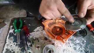 benzinli motorlu testerenin kırık motor kapak yayı nasıl tamir edilir