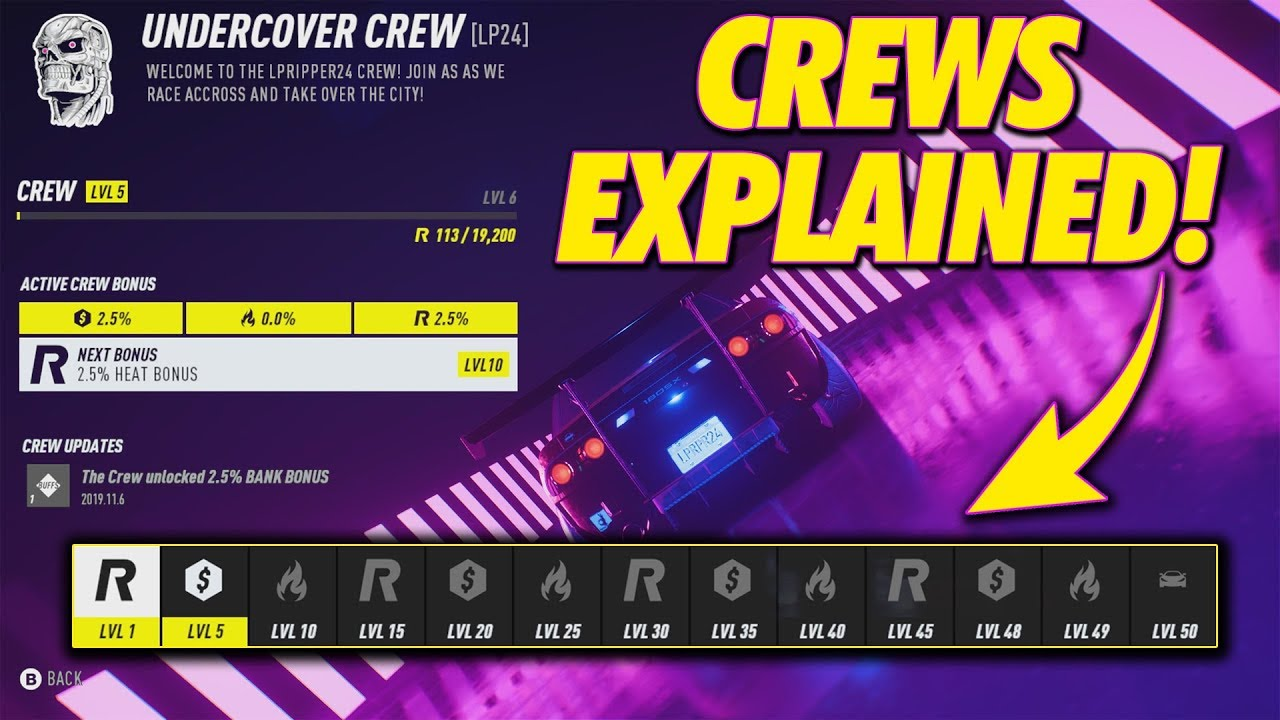 Need For Speed Heat  Crews Explained