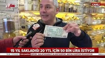 15 Yıl Sakladığı İçin 20 YTL İçin 50 Bin Lira İstiyor! / A Haber