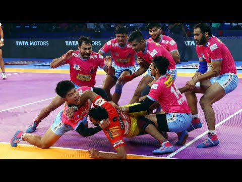 Pro Kabaddi 2018 Highlights | Gujarat Fortunegiants Vs Jaipur Pink Panthers | Hindi