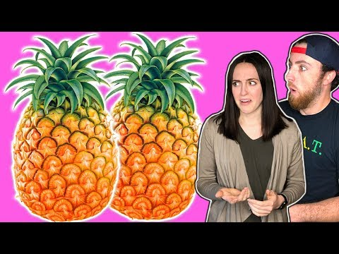 How to PULL apart a PINEAPPLE! Pineapple Peeling Hack