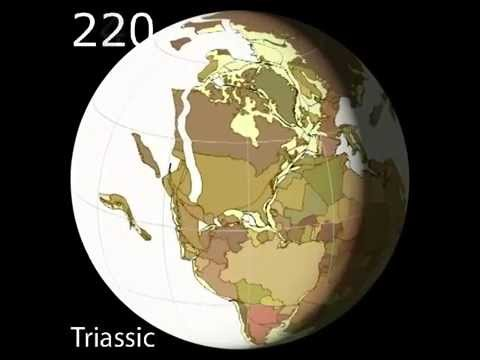 Plate Tectonics Viewed from North America - Scotese Animation