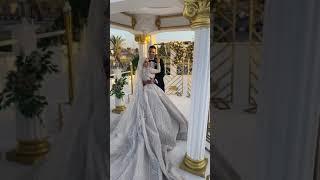 العريس مش عارف يقف من حجم الفستان وزعق 😂