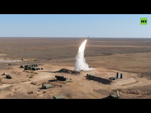 S-400 Triumph in action! | Russian Air Defense Forces hold exercises in Astrakhan region