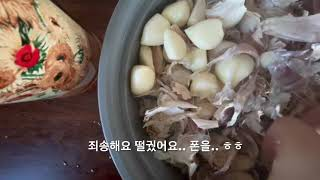 디테일이 결여된 마늘까기(garlic)
