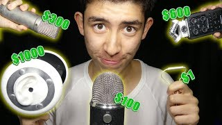 $1 Microphone VS $1,000 Microphone ASMR