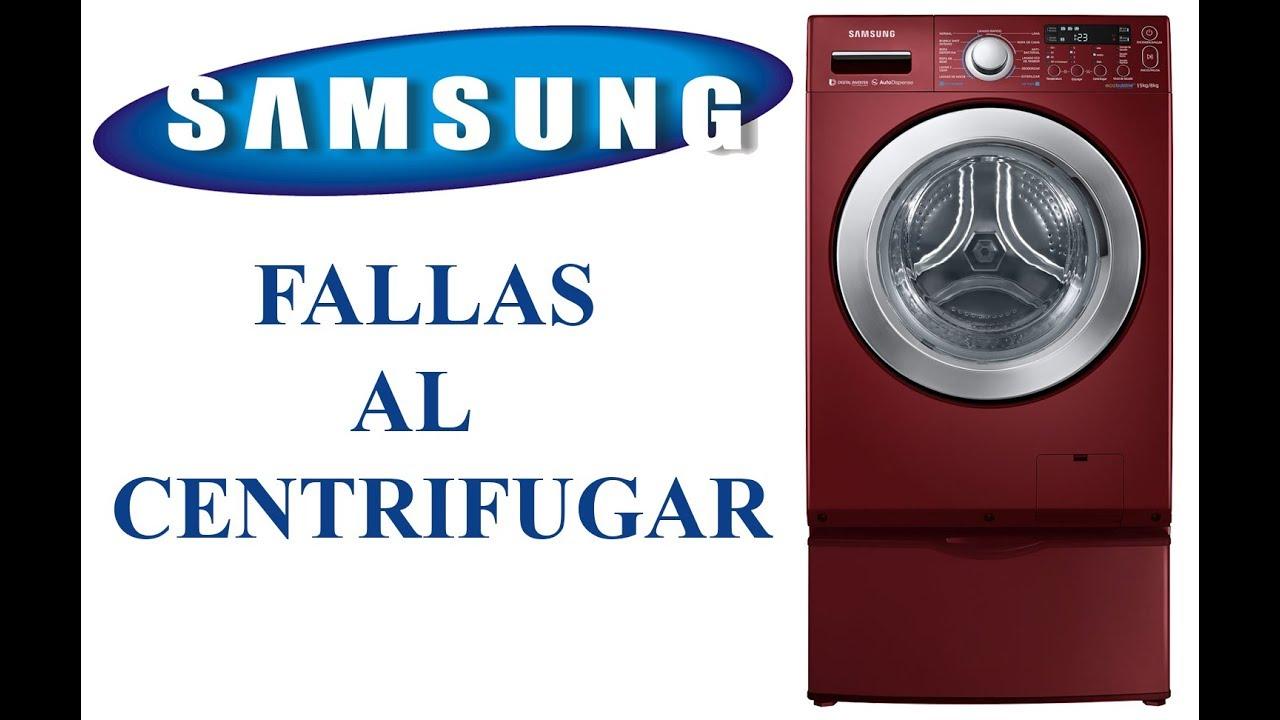 fallas al centrifugar lavadoras samsung youtube rh youtube com