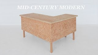 How To Build an L-Shaped Executive Desk | DIY Woodworking