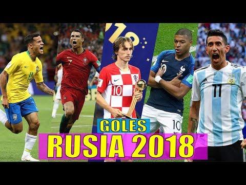 LOS MEJORES GOLES DEL MUNDIAL RUSIA 2018 Ft. Mbappé, cristiano ronaldo, Luka Modri?, Di María, & MAS