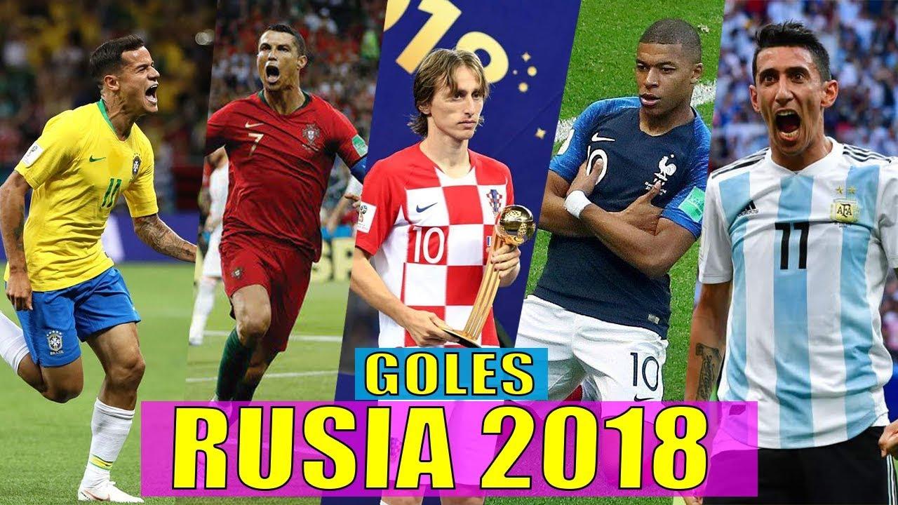 LOS MEJORES GOLES DEL MUNDIAL RUSIA 2018 Ft. Mbappé, cristiano ronaldo, Luka Modrić, Di María, &