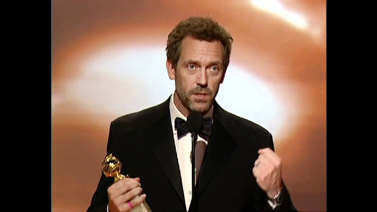 Hugh Laurie Wins Best Actor TV Series Drama