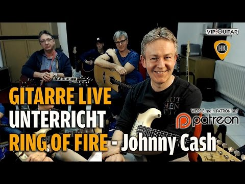 Gitarre Lernen - Ring of Fire - Johnny Cash - Live Unterrich