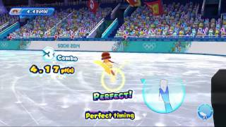 Mario & Sonic at the Sochi 2014 Olympic Winter Games: Figure Skating Singles (All 5 Songs) [1080 HD]