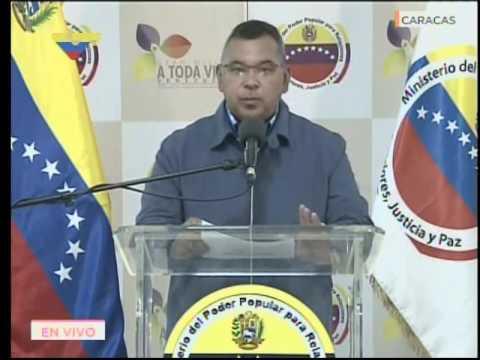 Néstor Reverol, Ministro de Relaciones Interiores venezolano, rueda de prensa 16 mayo 2017