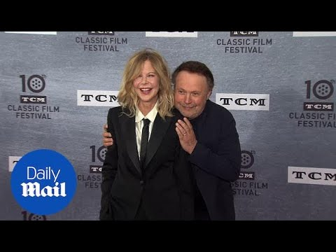Billy Crystal Sneaks Up On Meg Ryan At Film Anniversary Event