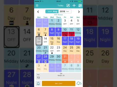 My Shift Planner v5 0 - shift working app (iOS)