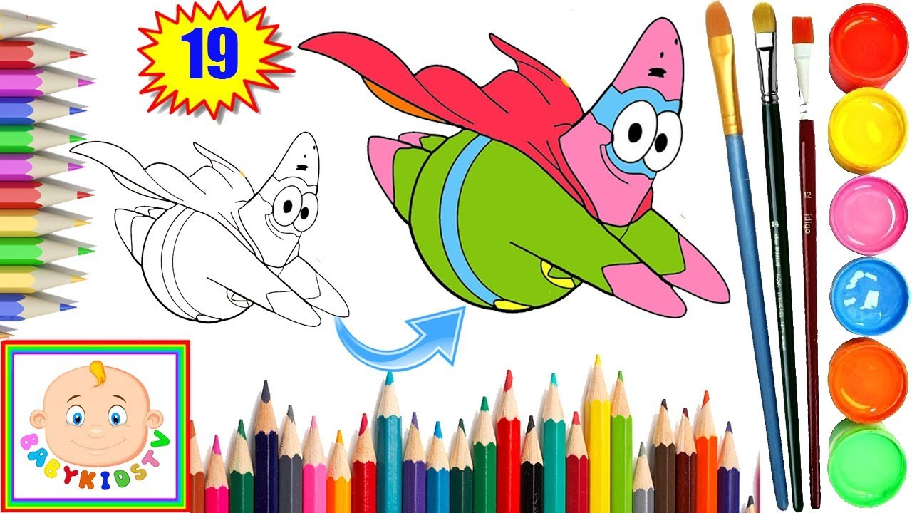 Patrick Star Coloring Pages - Coloring Book for Kids Children ...