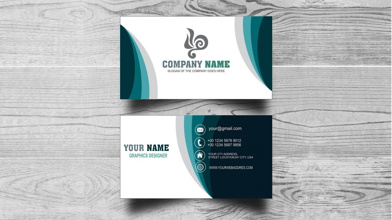 Simple Professional Business Cards Design in Coreldraw X8 ...