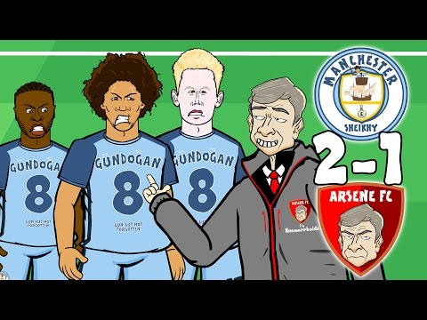 Man City vs Arsenal 2-1 - JINGLE BELLS! (Sane, Sterling and Walcott goals + highlights 2016 PARODY)