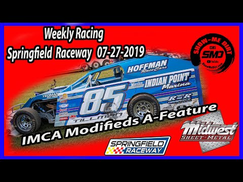 ICMA Modifieds A-Feature - Springfield Raceway 7-27-2019 #DirtTrackRacing @Midwest Sheet Metal http://msmfab.com/ @ShowMeDirt.com For photos head ... - dirt track racing video image