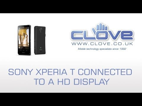 Sony Xperia T MHL/HDMI Connectivity Demonstration