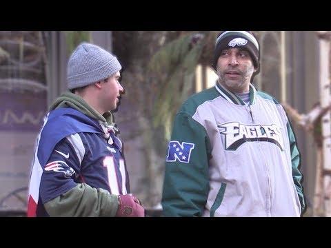 BEEFING Eagles Fans at the Super Bowl!