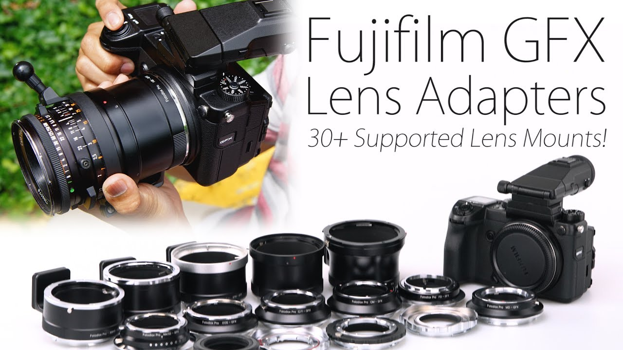 Fotodiox Pro Lens Mount Double Adapter Bronica SQ Mount and Canon EOS D//SLR Lenses to G-Mount GFX Mirrorless Camera EF//EF-S