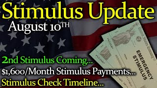 2nd Stimulus Check Update & Stimulus Package News: $1,600/Mo Stimulus Payments | Stimulus Timeline