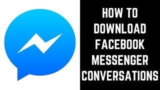 How to Download Facebook Messenger Conversations screenshot 2