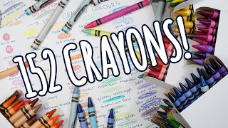 Unboxing 152 CRAYOLA CRAYONS: The Ultimate Collection