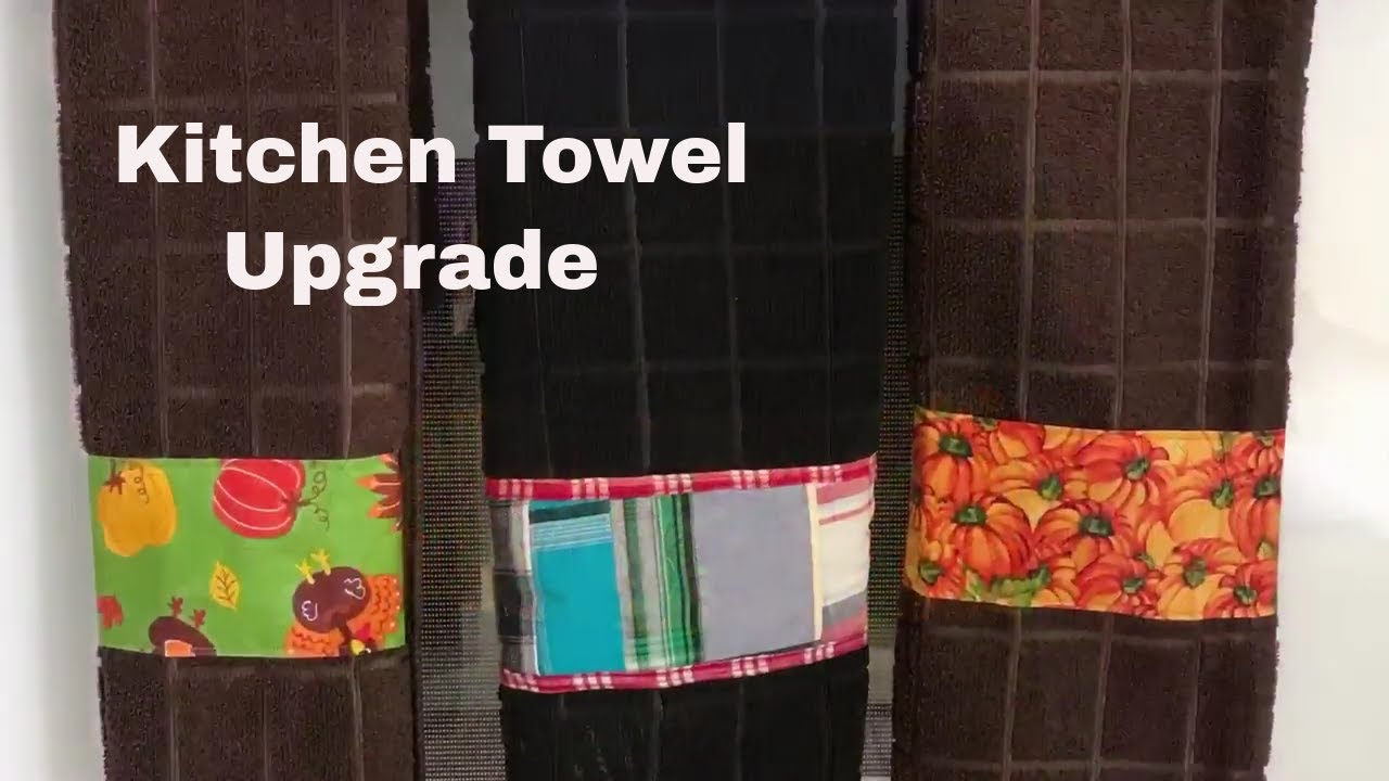 Sew with me - Adding fabric to decorate a kitchen towel