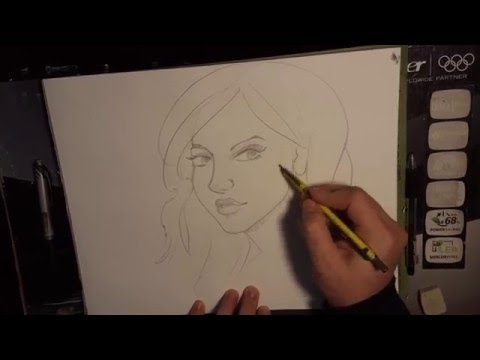 how to draw faces in pencil-three fourths view-sexy faces thumbnail