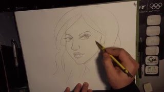 how to draw faces in pencil-three fourths view-sexy faces