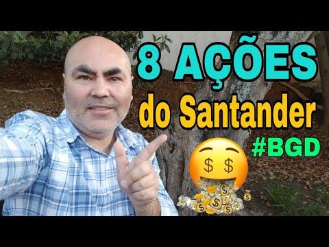 8 AÇOES da Carteira de DIVIDENDOS do Santander