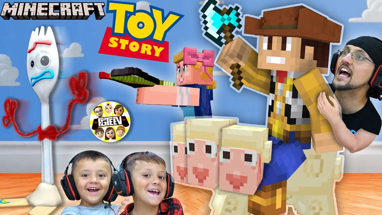 MINECRAFT TOY STORY 4 mit FGTEEV Boys! Forky ♥ ️ Trash Skit / Gameplay + video
