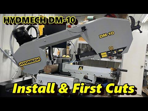Hydmech DM-10 Bandsaw Install and First Cuts