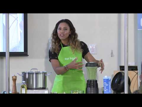 Green Breakfast Smoothie From Ayesha Curry- Kaiser Permanente
