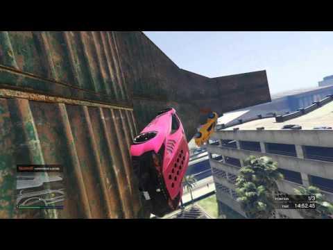 GIANT WALL RIDE!!! - GTA 5 Funny Moments