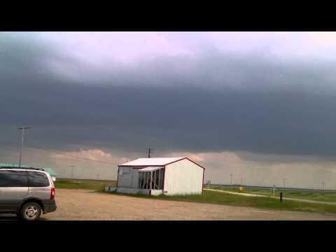 Getting gas at Hodgeville just before the tornado