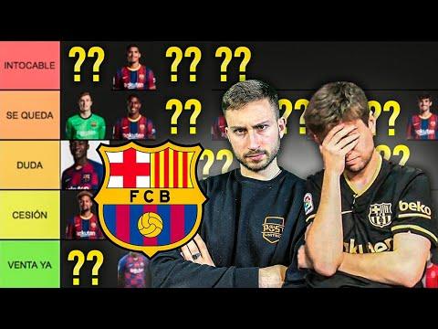 HACEMOS el TIERLIST de la PLANTILLA del FC BARCELONA 21-22