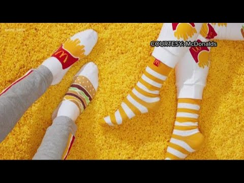 McDonald's is giving away free socks and slippers for Uber Eats customers