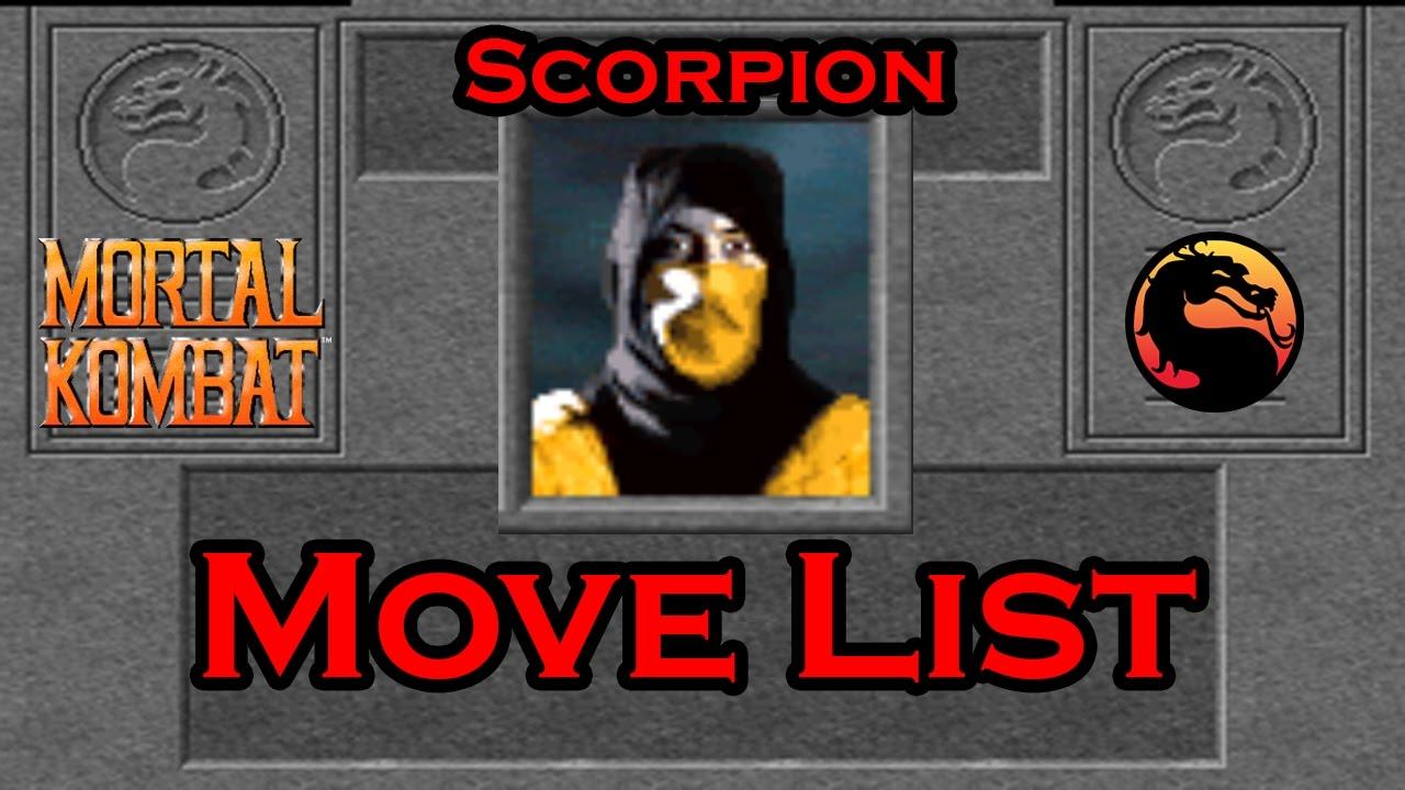 Mortal Kombat 1 (1992) - Scorpion Move List