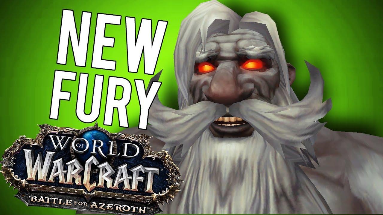 BFA Best Fury Warrior Update - World of Warcraft: Battle For Azeroth (Beta)