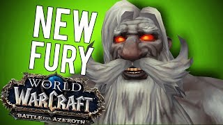 bfa best fury warrior update world of warcraft battle for azeroth beta