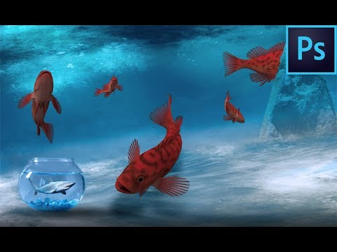 Tuto Photoshop CC/Création Big Fish And Shark