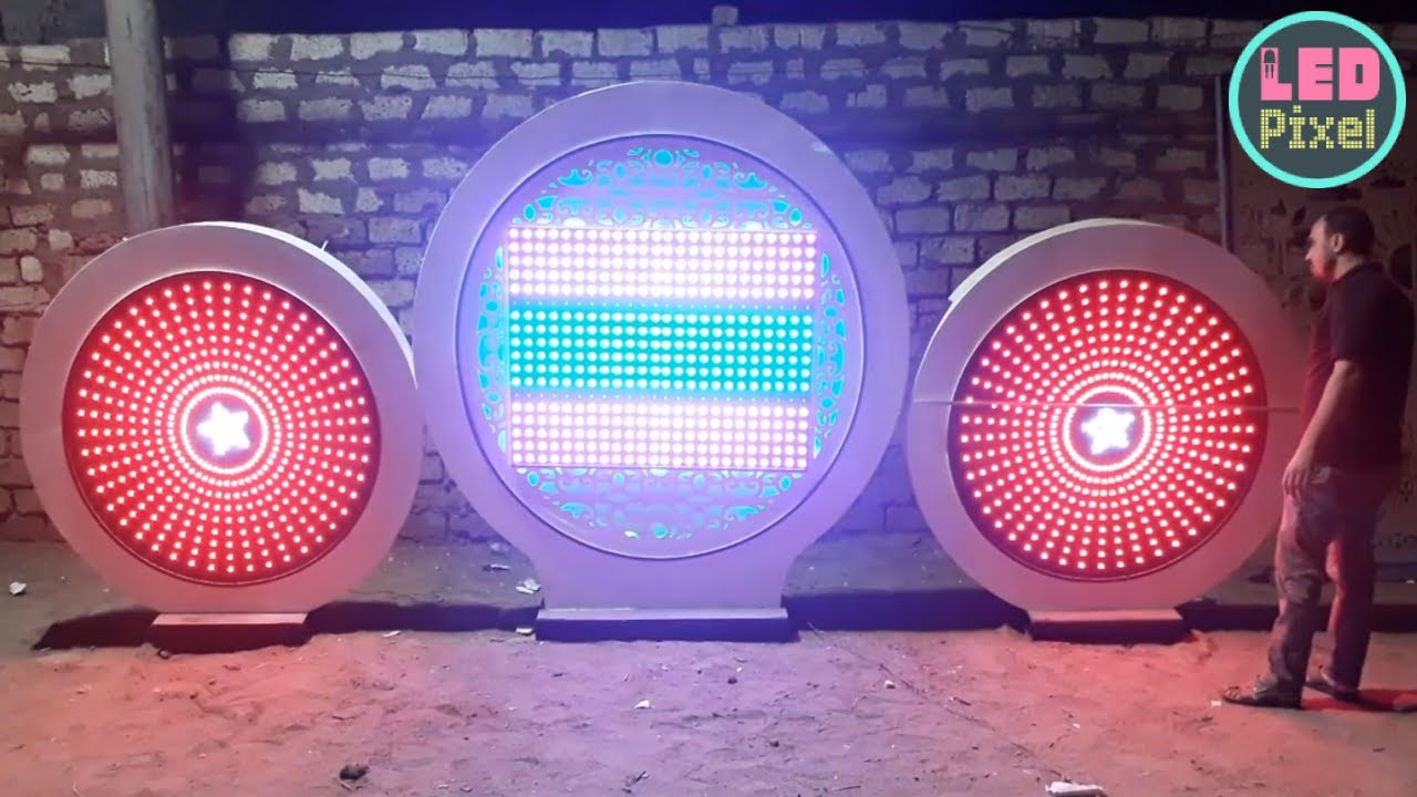 Pixel led Circle new design in 2020 from Egypt Make By Radwan Abo Hosien