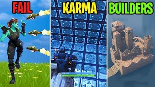 HIT BY 100 ROCKETS! - FAIL vs KARMA vs BUILDERS - Fortnite Battle Royale Funny Moments