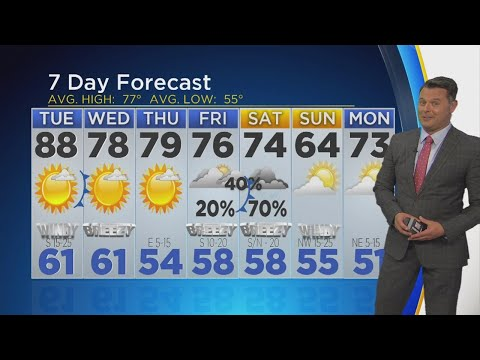 Almost 90 Degrees On Tuesday - Scott Padgett's Wather Forecast